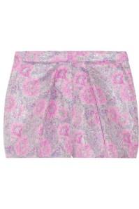 Metallic floral-jacquard shorts $285
