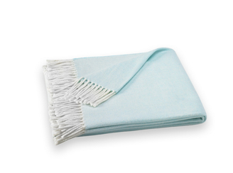 herringbone throw ice blue