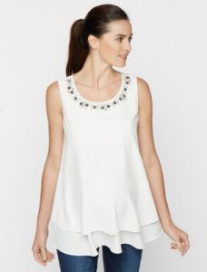 maternity embellished tank top